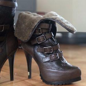 Ash Heeled Faux Fur Boots